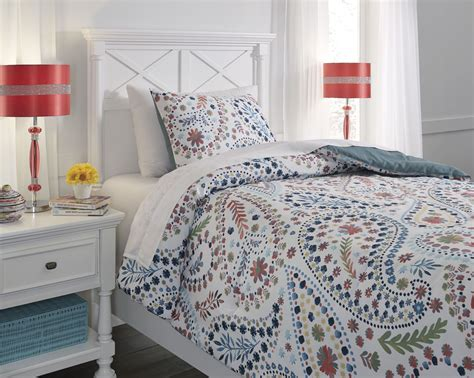 orange comforter twin danniell aqua and orange twin comforter set q228001t ashley
