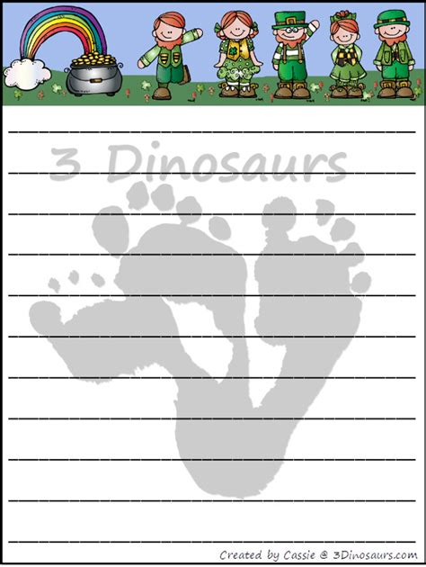 st patricks day writing paper free st patrick s day writing paper 3 dinosaurs