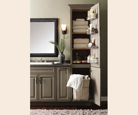 tall bathroom storage cabinet with laundry bin pull out her for narrow laundry closet mudroom