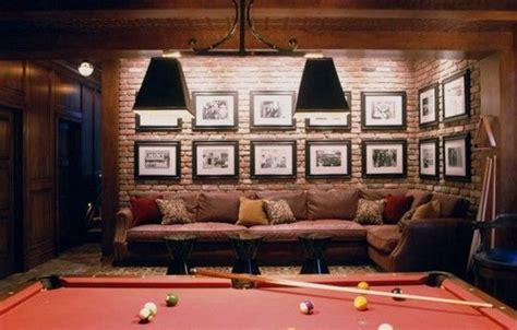 brick wall basement pub ideas