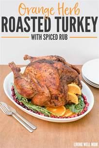 savory herb rub roasted turkey recipe dishmaps