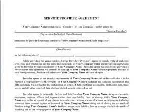 template service agreement service provider agreement forms