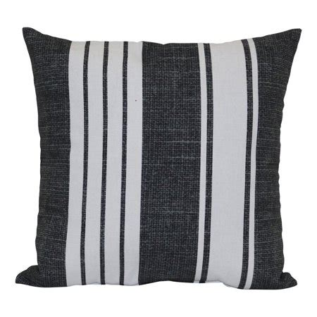 black and white striped pillow mainstays black and white stripe outdoor pillow walmart