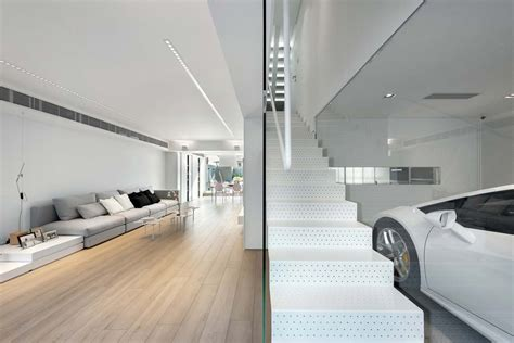 the white house design ltd stylish modern dream house in suburban hong kong with a transparent garage
