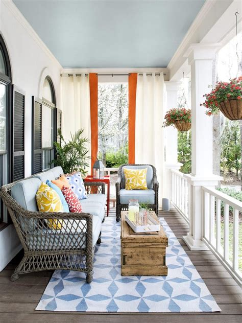 the outdoor living room stylish ideas for porches