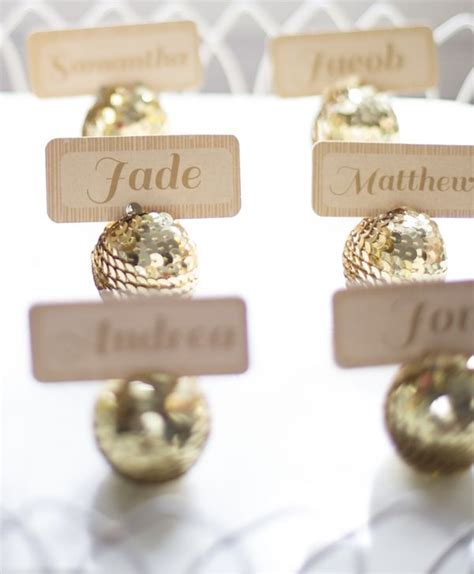 1000 ideas about place card holders on pinterest favors disco ball place card holders 25 diy sparkly ideas new