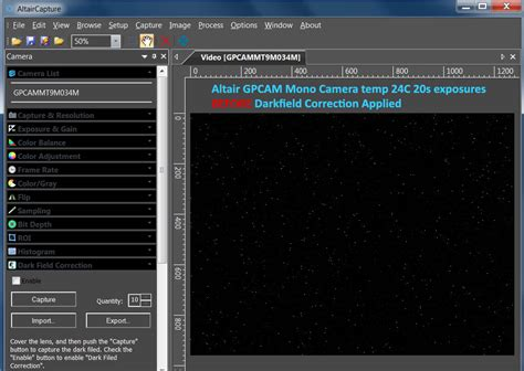 fixed pattern noise blackmagic how to use dark field subtraction in altaircapture to