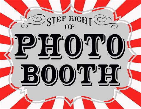 printable photo booth prop signs the red balloon carnival games and printables part 2