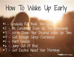 how to up early the secret of successful
