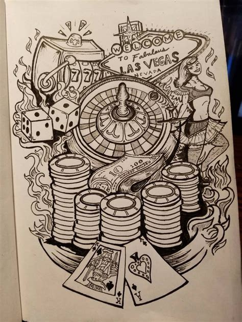 gambling tattoo idea upper arm half sleeve by slaverker
