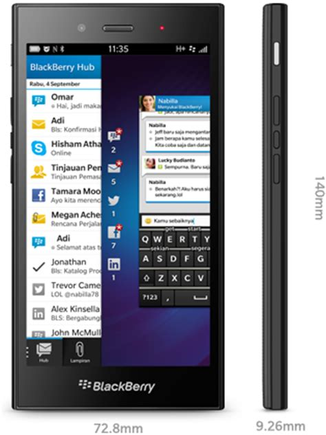 Hp Bb Jakarta Edition Pcholic Specifications Of The New Blackberry Z3 Jakarta Edition