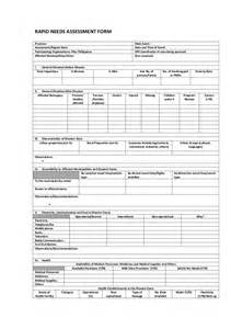 step 1 rapid needs assessment form