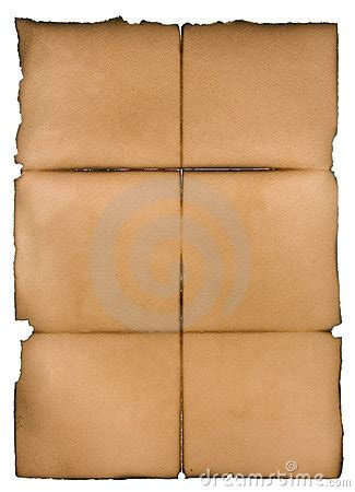 Folding Parchment Paper - folded parchment royalty free stock photography image