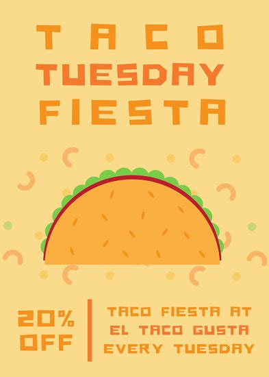 Taco Tuesday Party Flyer Templates By Canva Taco Flyer Template