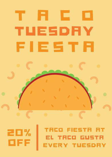 Taco Tuesday Party Flyer Templates By Canva Taco Invitation Template