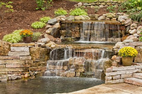 stone waterfalls backyard 50 pictures of backyard garden waterfalls ideas designs