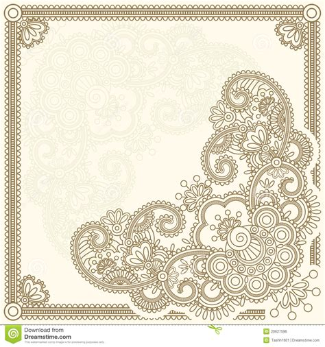 mehndi templates cards mehndi flower stock vector image of design lace