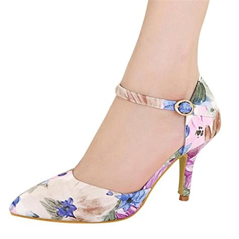flower pattern heels hee grand women floral flower pattern pointed high heels