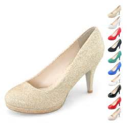 Woman autumn bridal dress wedding shoes sparkly bling party high heels