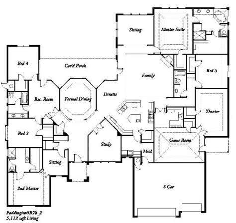 Five Bedroom Floor Plans by Manchester Homes The Paddington 5 Bedroom Floor Plan