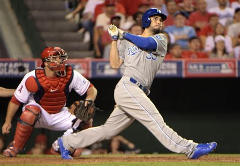 eric hosmer swing royals v angels two franchises on opposite paths