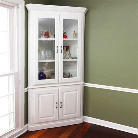 Cabinet. Wonderful white corner cabinet ideas: Corner