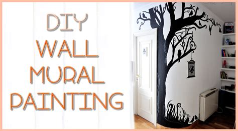 how to do wall painting designs yourself diy tree wall mural silvia quiros youtube