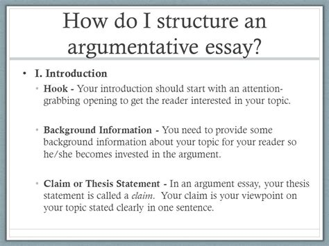 How Do You Structure An Essay by How To Start An Argument Essay You Start An Argumentative