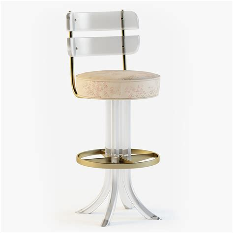 Acrylic Swivel Bar Stools by 3dsmax Lucite Brass Swivel Bar Stool