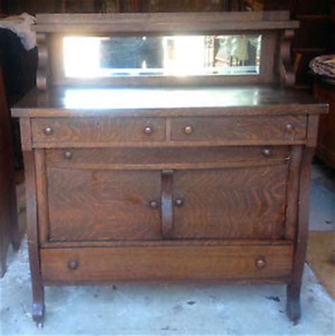 antique oak buffet with mirror antique oak buffet sideboard with beveled mirror estate ebay