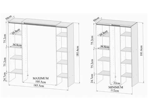 meuble rangement 268 ensemble armoire dressing meuble de rangement emeric