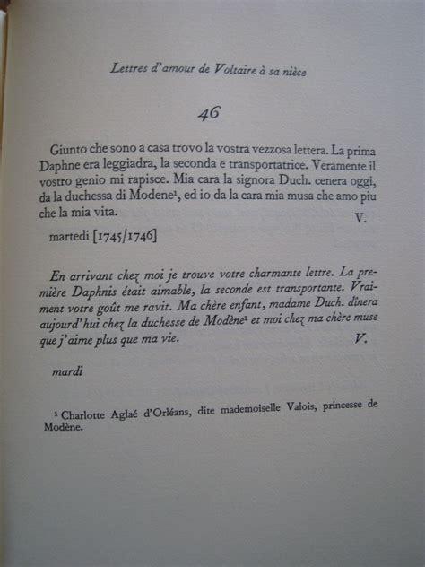 Présentation Lettre D Amour Voltaire Lettres D Amour De Voltaire 224 Sa Ni 232 Ce Plon 1957 Livres Rares Et Anciens