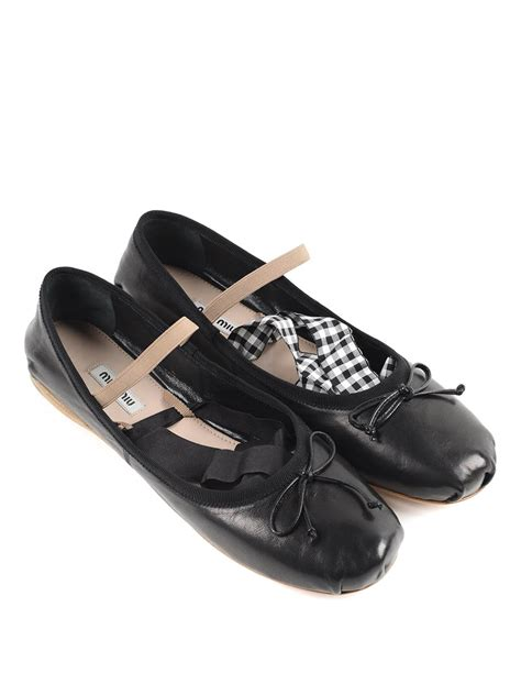 Flat Shoes Ribbon ribbon flats by miu miu flat shoes ikrix