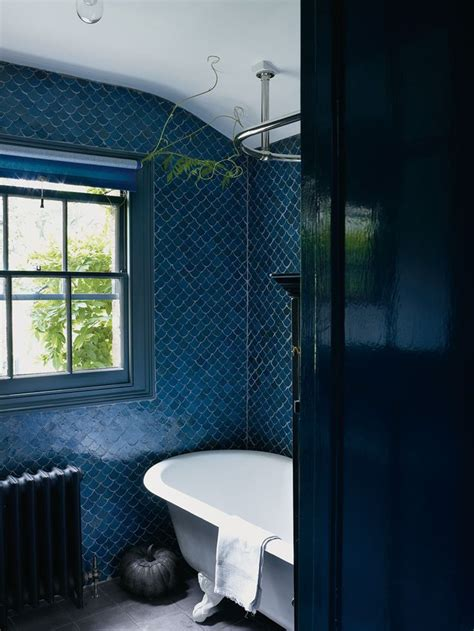 navy bathroom tiles remodelaholic best colors for your home navy blue