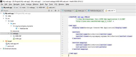 jsp tutorial web xml tutorial intellij idea community edition with tomcat