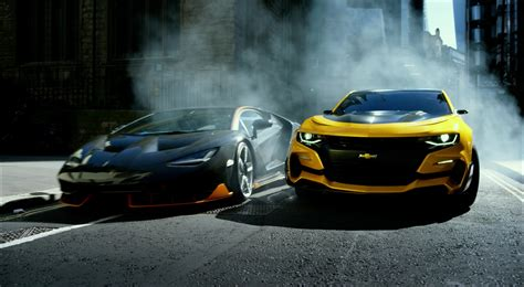 lamborghini transformer chevrolet camaro and lamborghini centenario in