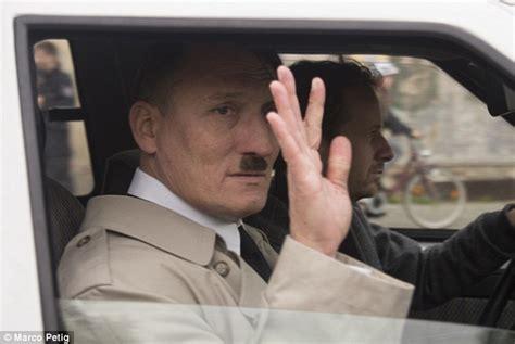 hitler biography netflix oliver masucci dressed as hitler taunts neo nazi thugs in