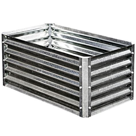 galvanized steel garden beds earthmark galvanized metal raised garden bed high square