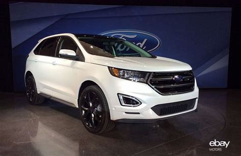 ford unveils new 2015 edge crossover ebay motors