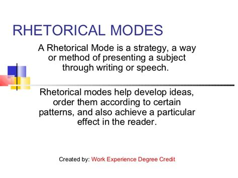 Rhetorical Mode Essay Exles by Essay Writing Techniques