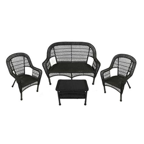 black resin wicker rocking chair international caravan