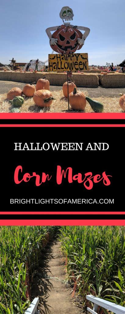 halloween  corn mazes bright lights  america