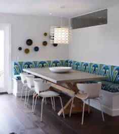 Bench Seating Dining Room Built In Banquette Contemporary Dining Room K