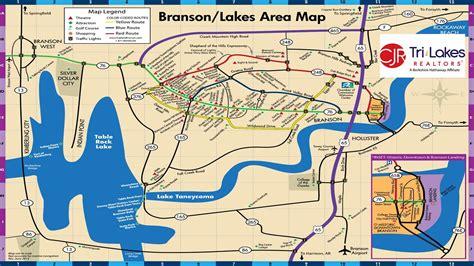 table rock lake map branson map updated branson tablerock lake
