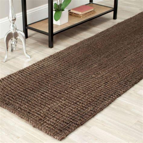 10 foot rug runners safavieh fiber brown 2 ft 6 in x 10 ft runner rug nf447d 210 the home depot