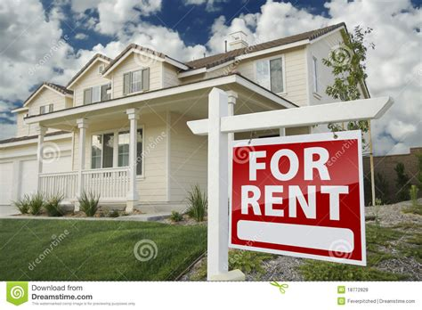 rental realtor for rent real estate sign in front of house royalty free