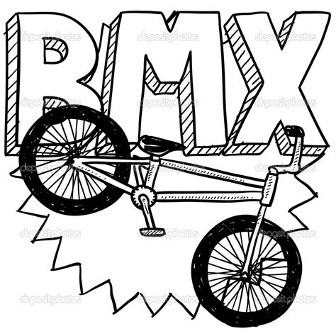 Bmx Coloring Page by How To Draw A Bmx Bike Pencil Drawing