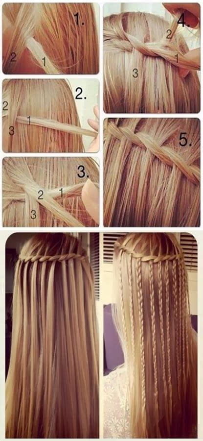 steps for long braids to be put in a bun 25 best ideas about waterfall french braid on pinterest