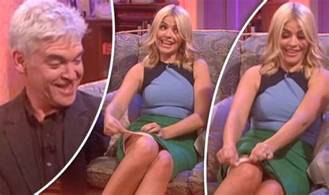 celebrity juice not on itv player holly willoughby flashes knickers as phillip schofield