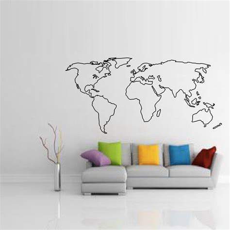 Large World Map Wall Stickers aliexpress buy buckoo wall stickers large world